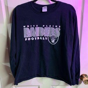 Raiders football long sleeve tee size M
